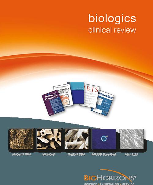 BioűHorizons bioanyagok, klinikai áttekintés